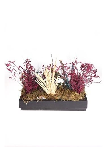 Kibrithane Çiçek Yapay Çiçek  Ahşap Saksı Kuru Çiçek Bahçe Aranjman Kc00200841 Renkli
